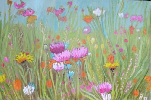 Anne Petschuch, Blumenwiese 14a, Pflanzen, Pflanzen: Blumen, Realismus