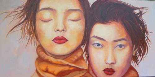Anne Petschuch, Zwei, Menschen: Gruppe, Menschen: Frau, Impressionismus