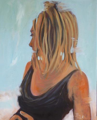 Anne Petschuch, Need a hair cut!, Menschen: Frau, Gefühle, Impressionismus