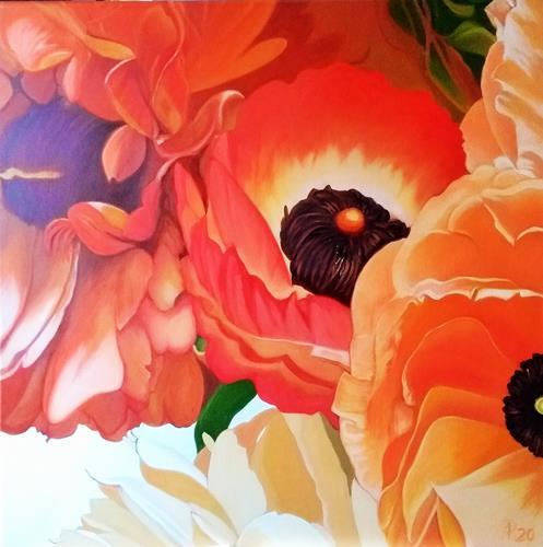Anne Petschuch, Mohnblüten, Pflanzen, Pflanzen: Blumen, Realismus, Expressionismus