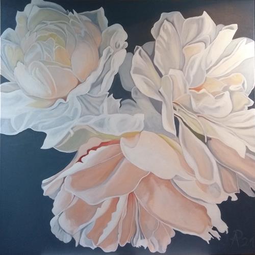 Anne Petschuch, Rosen 4, Pflanzen, Pflanzen: Blumen, Realismus