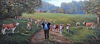 Antonio-Molina-Landschaft-Herbst-Tiere-Land-Moderne-Naturalismus