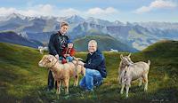 Antonio-Molina-Landschaft-Berge-Menschen-Familie-Neuzeit-Realismus