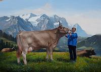 Antonio-Molina-Landschaft-Berge-Menschen-Frau-Moderne-Fotorealismus