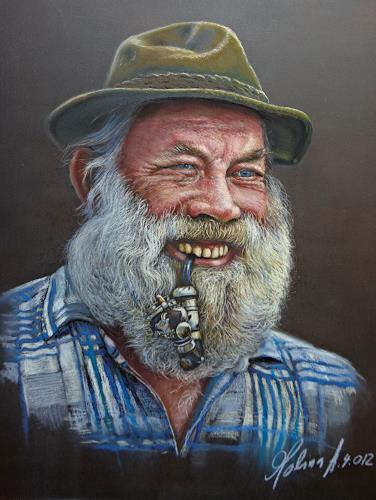Antonio Molina, Fröhlicher Schweizer Bauer, Menschen: Porträt, Menschen: Mann, Fotorealismus