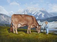 Antonio-Molina-Tiere-Land-Landschaft-Berge-Moderne-Abstrakte-Kunst