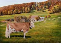 Antonio-Molina-Landschaft-Herbst-Tiere-Land-Moderne-Fotorealismus-Hyperrealismus