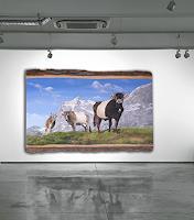 Antonio-Molina-Landschaft-Berge-Tiere-Land-Moderne-Abstrakte-Kunst