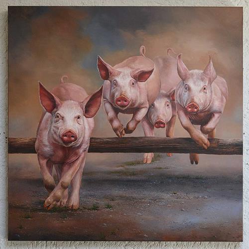 Antonio Molina, Säulirennen, Tiere: Land, Abstrakte Kunst, Expressionismus