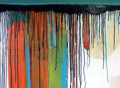 WALT, downhill, Abstraktes, Bewegung, Gegenwartskunst, Abstrakter Expressionismus