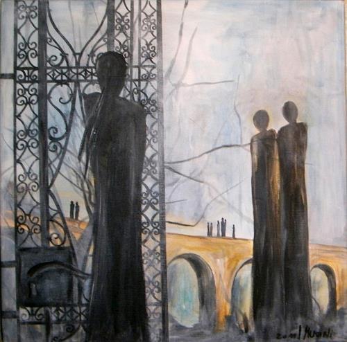 silvia messerli, O.T., Romantik: Sonnenuntergang, Gefühle: Trauer, Abstrakte Kunst, Abstrakter Expressionismus