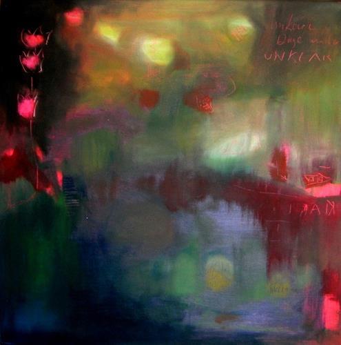 silvia messerli, unklare gedanken an den frühling, Abstraktes, Fantasie, Gegenwartskunst, Abstrakter Expressionismus