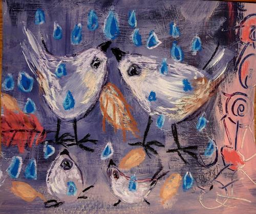 silvia messerli, endlich Regen, Tiere: Luft, Fantasie, Art Brut, Expressionismus