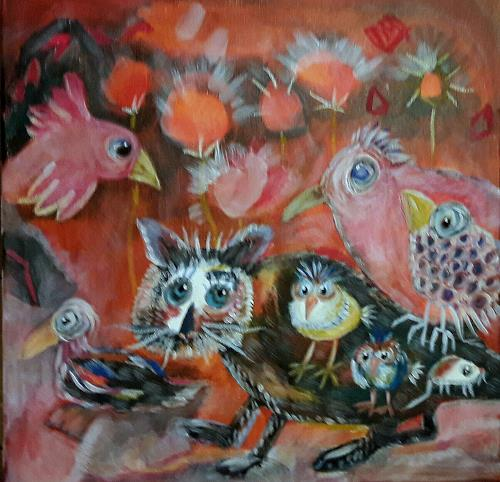 silvia messerli, O.T., Fantasie, Diverse Tiere, Art Brut