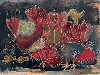 silvia-messerli-Abstraktes-Tiere-Luft-Moderne-Abstrakte-Kunst-Art-Brut
