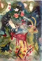 silvia-messerli-Landschaft-Berge-Tiere-Moderne-Abstrakte-Kunst-Art-Brut
