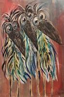 silvia-messerli-Tiere-Luft-Fantasie-Moderne-Abstrakte-Kunst-Art-Brut