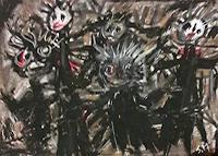 silvia-messerli-Gefuehle-Angst-Mythologie-Moderne-Abstrakte-Kunst-Art-Brut