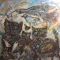 silvia-messerli-Gefuehle-Freude-Diverse-Tiere-Gegenwartskunst-Gegenwartskunst