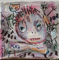 silvia-messerli-Menschen-Mann-Fantasie-Moderne-Abstrakte-Kunst-Art-Brut