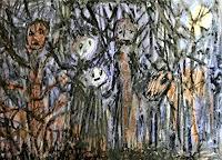 silvia-messerli-Fantasie-Natur-Wald-Moderne-Abstrakte-Kunst-Art-Brut
