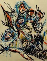silvia-messerli-Diverse-Tiere-Gefuehle-Freude-Moderne-Abstrakte-Kunst-Art-Brut