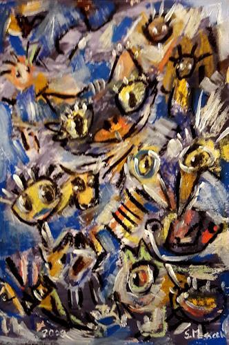 silvia messerli, das unperfekte Chaos, Abstraktes, Fantasie, Art Brut