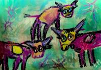 silvia-messerli-Humor-Tiere-Land-Moderne-Abstrakte-Kunst-Art-Brut