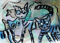 silvia-messerli-Tiere-Land-Situationen-Moderne-expressiver-Realismus