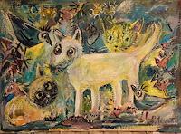 silvia-messerli-Gefuehle-Freude-Diverse-Tiere-Moderne-Abstrakte-Kunst-Art-Brut
