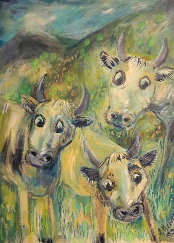 silvia messerli, Kühe im Emmental, Natur: Diverse, Tiere: Land, Land-Art