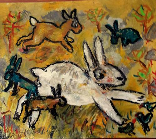 silvia messerli, Ostern naht ;-), Tiere: Land, Gefühle: Freude, Art Brut