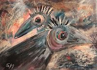 silvia-messerli-Gefuehle-Freude-Tiere-Luft-Moderne-Expressionismus-Abstrakter-Expressionismus