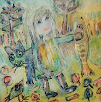 silvia-messerli-Menschen-Frau-Diverse-Tiere-Moderne-Abstrakte-Kunst-Art-Brut