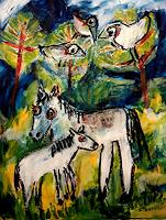 silvia-messerli-Gefuehle-Freude-Tiere-Land-Moderne-Abstrakte-Kunst-Art-Brut