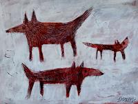 silvia-messerli-Tiere-Dekoratives-Moderne-Expressionismus-Abstrakter-Expressionismus