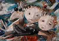 silvia-messerli-Tiere-Luft-Diverses-Moderne-Abstrakte-Kunst-Art-Brut