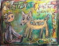 silvia-messerli-Menschen-Kinder-Gefuehle-Freude-Moderne-Abstrakte-Kunst-Art-Brut