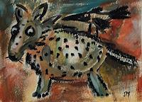 silvia-messerli-Diverse-Tiere-Humor-Moderne-Abstrakte-Kunst-Art-Brut