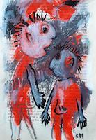 silvia-messerli-Menschen-Paare-Gefuehle-Depression-Gegenwartskunst-Gegenwartskunst