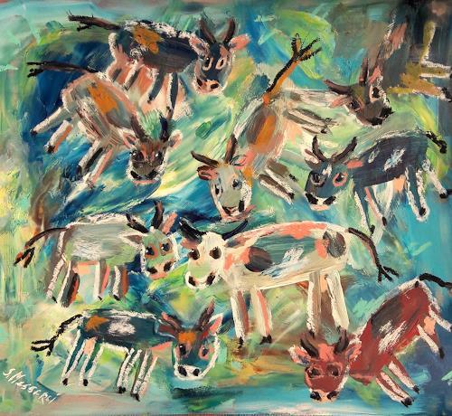 silvia messerli, erster Ausgang im 2019, Tiere: Land, Fantasie, Art Brut