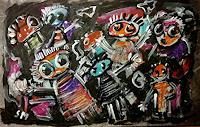 silvia-messerli-Menschen-Familie-Gefuehle-Freude-Moderne-Abstrakte-Kunst-Art-Brut