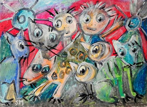 silvia messerli, friede Freude eierkuchen, Gefühle: Freude, Diverse Tiere, Art Brut