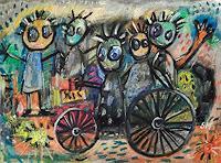 silvia-messerli-Gefuehle-Freude-Menschen-Gruppe-Moderne-Abstrakte-Kunst-Art-Brut