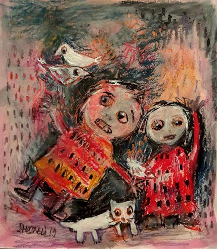 silvia messerli, Dreamteam, Menschen: Gruppe, Gefühle: Freude, Art Brut, Abstrakter Expressionismus