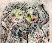 silvia-messerli-Menschen-Gesichter-Gefuehle-Freude-Moderne-Expressionismus-Abstrakter-Expressionismus