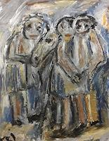 silvia-messerli-Menschen-Gruppe-Tiere-Land-Gegenwartskunst-Gegenwartskunst