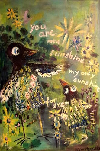 silvia messerli, you are my sunshine, Gefühle: Liebe, Fantasie, Art Brut