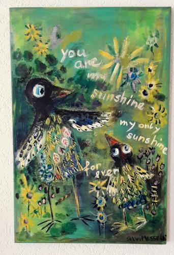 silvia messerli, you are my sunshine, Gefühle: Liebe, Tiere: Luft, Art Brut