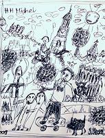silvia-messerli-Gefuehle-Freude-Diverse-Menschen-Moderne-Abstrakte-Kunst-Art-Brut